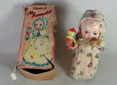 Vintage Musical Toy My Mama Doll Japan with Box