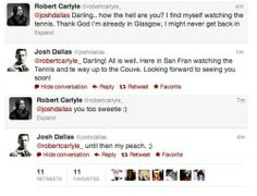 Josh Dallas & Robert Carlyle talk on Twitter <- love them so much