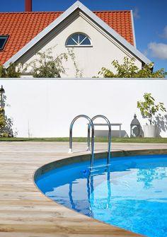 Above Ground Pool Decks, In Ground Pools, Wood Pool Deck, Intex Pool, Backyard, Patio, Outdoor Living, Outdoor Decor, Spas