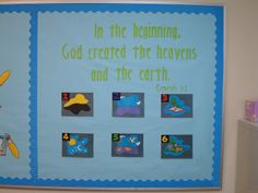 Genesis 1:1 bulletin board and activity