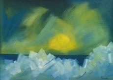 Claude Picher, Débâcle de la glace – Rivière St. Laurent [Icebreaking – St-Lawrence River], c./v. 1969, oil on canvas / huile sure toile, Firestone Collection of Canadian Art / Collection Firestone d'art canadien