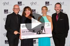 ghd unterstützt DKMS LIFE und überreicht beim dreamball einen Spendenscheck in Höhe von 121.387 Euro