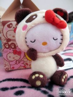 Aww, I so want this-Hello Kitty Panda Plushie from Urban Outfitters