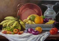 JOSÉ ROSÁRIO: NATUREZA-MORTA (José Rosário) Fruit Painting, Wine Art, Still Life Art, Fruit Art, Arte Floral, Nature Paintings, Art Pictures, Projects To Try, Pastel