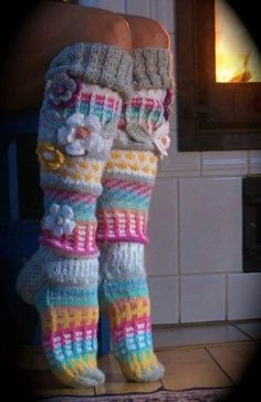Over the knee socks Thigh High socks Hand knit knee socks Flower knee socks Flower socks Rainbow socks Woman leg warmes Hand knit socks – Knitting Socks Crochet Socks Pattern, Crochet Shoes, Crochet Slippers, Knit Crochet, Irish Crochet, Crochet Patterns, Wool Socks, Knitting Socks, Hand Knitting