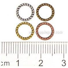Zinc Alloy Round Ring Beads,Plated,Cadmium And Lead Free,Various Color For Choice,Approx 8*1.5mm,Hole:Approx 6mm,Sold By Bags,No 001067