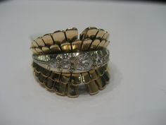 Anello vintage in oro rosso e diamanti taglio cava vecchia...la sapienza artigiana di un tempo! da easyOro a Como, tel 031/261507
