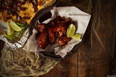 Sriracha & Bourbon Chicken Wings Recipe | GirlCarnivore.com