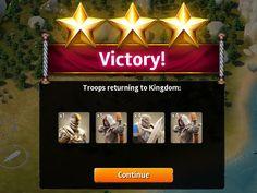 Siegefall | Combat | Victory Step3 | UI HUD User Interface Game Art GUI iOS Apps Games | Gameloft | www.girlvsgui.com