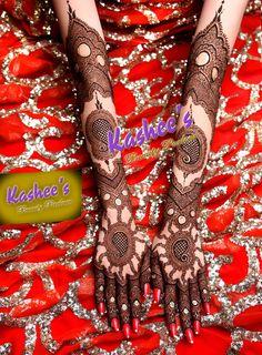 Beautiful bridal mehndi design by kashee 's beauty parlour