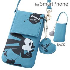 Disney Oswald The Lucky Rabbit Leather Smartphone Pouch w Cleaner Import Japan | eBay
