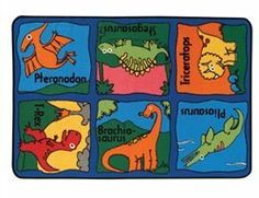 "Dino-mite 3' x 4'6"" Value Rug by Carpets for Kids. $49.95. Dino-mite 3' x 4'6"" Value Rug - designed to stimulate a child's imagination through a variety of designs created for use in small play areas. Proudly made in the USA, you can be assured that our products are safe for your room; constructed with attention to detail and quality.Weight: 4 lbs.UPC: 670366001449"