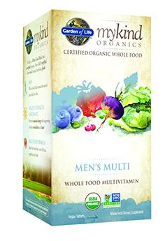 Garden of Life Organic Multivitamin Supplement for Men  mykind Mens Whole Food Vitamin Vegan 120 Tablets -- More info could be found at the image url. (Note:Amazon affiliate link)