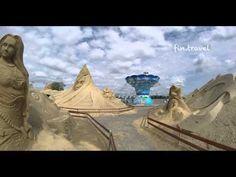 Выставка песчаных фигур в Лаппеенранте 2014 г. - YouTube