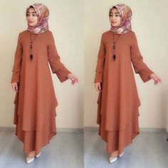 Cute Clothes For Women Over 40 - Cute High Street Fashion, Abaya Fashion, Fashion Dresses, Estilo Abaya, Abaya Mode, Hijab Stile, Modele Hijab, Mode Glamour, Muslim Women Fashion