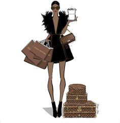 19 new Ideas fashion sketches chanel megan hess illustration Black Girl Art, Black Women Art, Black Girl Magic, Art Girl, Louis Vuiiton, Megan Hess Illustration, Kerrie Hess, Chanel Art, Louis Vuitton Agenda