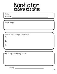 Reading Response Pack (Literacy Station Follow-up)