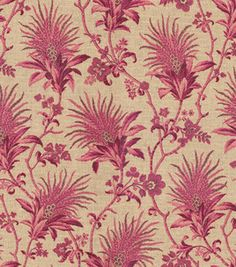 Home Decor Fabric-Annie Selke Sarala/Ken Raspberry & home decor print fabric at Joann.com