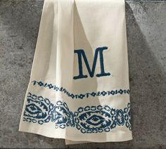 Lori Paisley Embroidered Guest Towels, Set of 2 | Pottery Barn