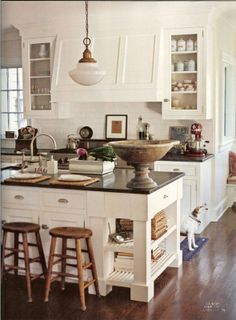 love this hood,  open shelves on island, cabinets, backsplash like this white for the cabinets