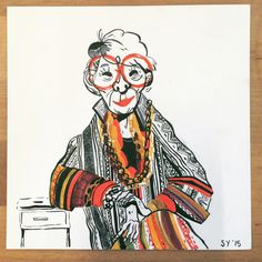 This lady has awesome style! Iris Apfel :)