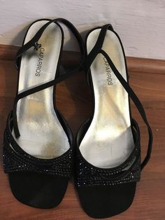 54806c5a3 Caparros Black Sandals With Rhinestones  fashion  clothing  shoes   accessories  womensshoes