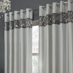 Brian Harrison Silver Sparkle Curtains New Curtains Silver Curtains For Bedroom Sparkly Bedroom, Glitter Bedroom, Glitter Paint For Walls, Glitter Curtains, Silver Curtains, Tassel Curtains, Red Curtains, Colorful Curtains, Curtains Kohls