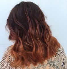 After a Balayage session, you can really play with the different gloss (toner) colors, every haircut if you want. Two months ago Hallie and I rocked gold copper, this time we opted for a ruby copper gloss