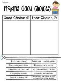 Printables Making Good Decisions Worksheets social skills first day and friendship on pinterest tattling vs reporting