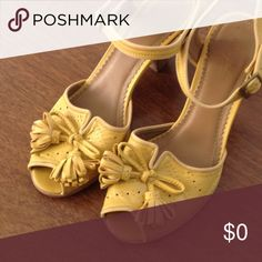ISO Miss Albright yellow tassel shoes 8.5 or 9 Who's got em? Anthropologie Shoes Heels