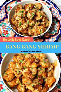 This is a recipe for Bang Bang Shrimp that is grain-free, nut-free, and does not use added sugar. I include a quick recipe for the Sweet Thai Chili Sauce. recipes shrimp Low-Carb Bang Bang Shrimp Recipe (Grain-free, No-Added Sugar) Low Carb Dinner Recipes, Healthy Recipes, Keto Dinner, Diet Recipes, Low Carb Shrimp Recipes, Ketogenic Recipes, Quick Recipes For Dinner, Carb Free Recipes, Best Low Carb Recipes