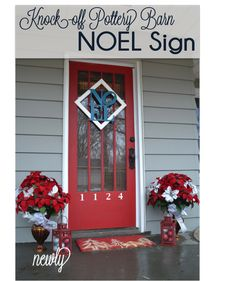 Make your own knock-off Pottery Barn NOEL sign with this simple tutorial.  This is perfect for your front door or above our mantel. Paint it any color you choose!