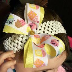 Baby Cupcake Headband  Infant Cupcake Headband  Cupcake