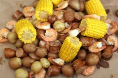 This version of Beaufort stew — also known as Low Country boil — is a fabulous meal for 12 people. Great for camping, tailgating, and a family meal. Seafood Boil, Seafood Recipes, Soup Recipes, Cooking Recipes, Seafood Dishes, Baked Beans With Hamburger, Pork Sausage Recipes, Cocktail Sausages