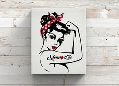 Pin Up-Mom Life Vinyl Decal Mac-Rosie-Water Bottle-Coffee Mug-Travel-Canvas by KGDESIGNS16 on Etsy