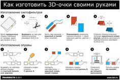 Как изготовить 3D-очки своими руками