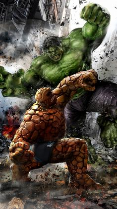 The Thing vs Hulk by Uncannyknack.