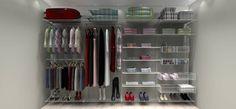 Closet Completo - Kit CL350 - 3,50 metros   Aramados Monte Fácil