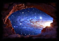 Galaxy Rising Between Space and Time By ~Lori ,