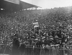 Fans at the Manchester Derby in March, 1926.