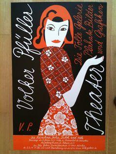 Volker Pfüller – Affiche pour une exposition Die Tolle Galerie (2010)