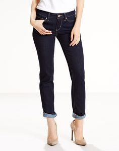 Offering a modern fit, the Levi's 712™ Slim Jeans are between a skinny and straight fit; allowing a contemporary silhouette without any restriction. Crafted with innovative stretch denim, the 712™ Slim jeans are designed to flatter, hold and lift to suit your figure. With a deep indigo Lone Wolf wash, the 712™ Slim jeans are finished with authentic details including the traditional five-pocket construction, button and zip fly and a Levi's branded leather patch to the waistband.