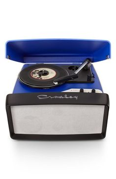 Free shipping and returns on Crosley Radio 'Collegiate' Turntable at Nordstrom.com. A '50s-style three-speed turntable lets you listen to digital or analog records at full volume with stereo speakers and a USB jack for plugging in your MP3 player. The compact, portable design lets you take your tunes to go with a built-in leather handle, while a USB cable and software lets you convert your vinyl to digital files.
