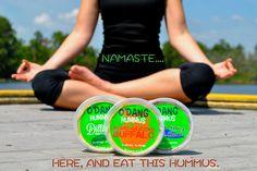 Namaste here and eat this hummus... #odang #hummus #fitnessfood