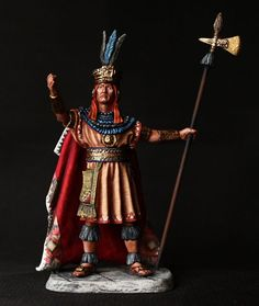ELITE TIN SOLDIER: American Indian Sapa Inca 54 mm., figurine, metal sculpture. #Spbsouvenir
