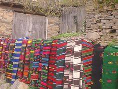 Old floriated traditional bulgarian rug - Kovachevitsa, Blagoevgrad, Bulgaria