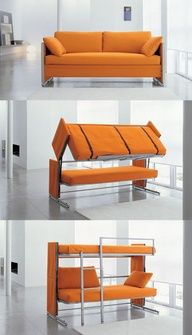 A couch that converts into a bunk bed. About time that someone invented it!