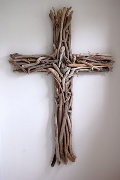 This driftwood cross is so different but, lovely!<3