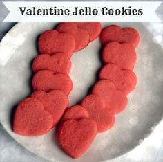 Valentine Jello Cookies Recipe! ~ at TheFrugalGirls.com - #valentines #cookie #recipes