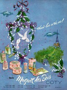 Coty Perfumes: Muguet de Bois by Coty c1952